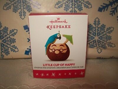 Hallmark A Little Cup Of Happy 2016 Christmas Ornaments Coconut Parrot Mug