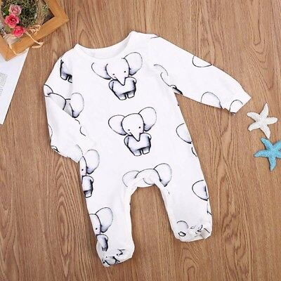 Cute Newborn Toddler Baby Boy Clothes Cotton Romper Jumpsuit Playsuit Outfits US