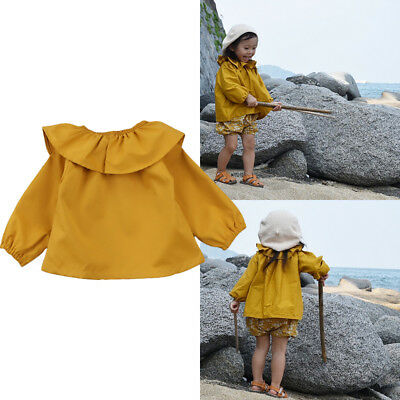 Toddler Baby Girls Long Sleeve Ruffle Pullover T-Shirt Top Sweatsuit Outfits