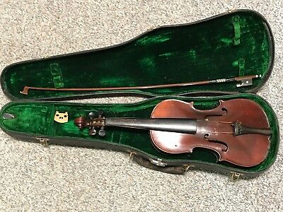 Medio Fino Violin With Silver And Mother Of Pearl Richard Geipel Bow M&W Case