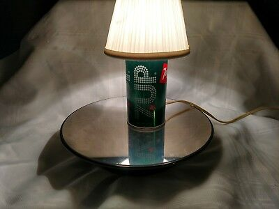 Vintage 7 up the uncola Metal soda can lamp with lamp shade