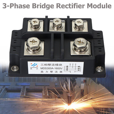 NEW MDS300A 1600V 3 Phase Bridge Rectifier Module Diode Controller 5 Terminals