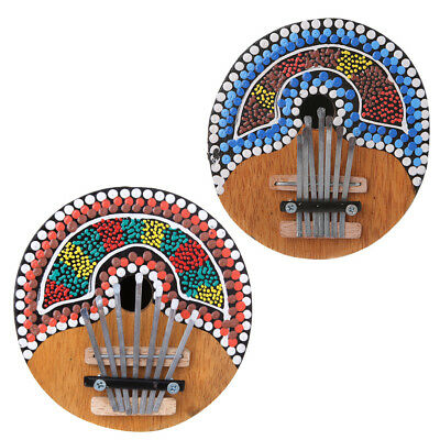 Kalimba Thumb Piano 7 Keys Tunable Coconut Shell Painted Musical Instrument New