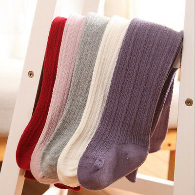 Infant Baby Girls Toddler Kids Cotton Warm Tights Stockings Pantyhose 0-6T LD