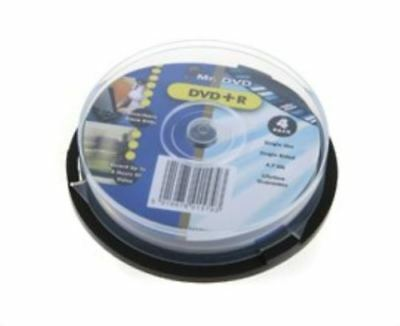 Mr. DVD DVD+R 120 Minutes 4.7GB 4X Speed Recordable Black Discs - 8 Pack Spindle
