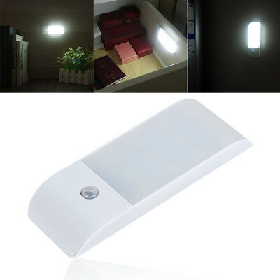 USB Rechargeable 12 LED Night Light with PIR Motion Sensor for Closet Cabinet WH