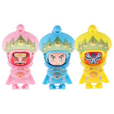 3Pcs Hand Painting Chinese Sichuan Opera Face Changing Art Action Figure Toy