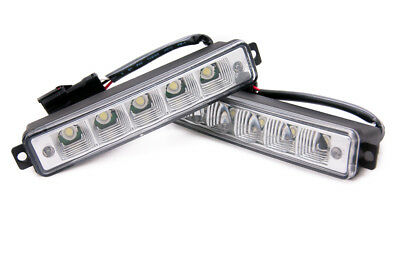 5 LED X-Treme High Power 15cm DRL Lights Lamps Daytime Auto Switch For Chrysler