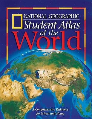 Student Atlas of the World, National Geographic Society, Very Good Book