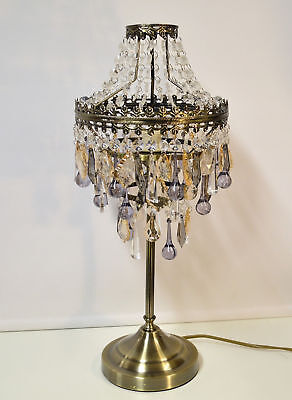 Antique Brass Table Lamp Chandelier Style 39 95 Picclick Uk