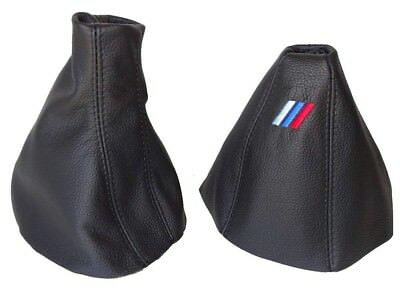 """Gear & Handbrake Gaiter For BMW X3 E83 2003-2010 Leather """"M3"""" Embroidery"""