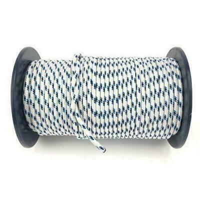 Double Braid Polyester Marine Sailing General Purpose Rope 6mm x 100M Blue Fleck