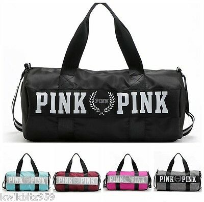 PINK Gym Duffel Bag School Holdall Overnight Victoria Victoria's Secret NEW