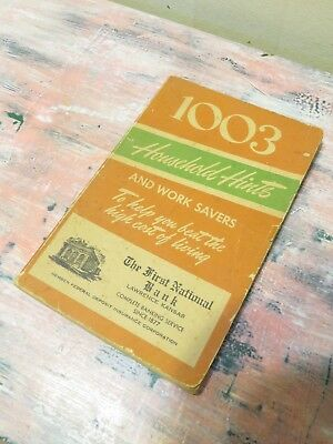1003 Household Hints- 1951 - First National Bank Akron