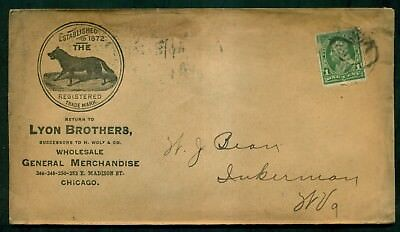 1900 Lyon Brothers General Merchandise Advertising Cover - Chicago,IL