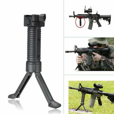 1Pcs Tactical Rifle Bipod Hand Fore Grip Vertical Foregrip Picatinny Weaver Rail