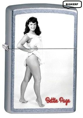 Bette Page Sexy Pinup Girl - Street Chrome - Zippo  Lighter - New In Box #78831