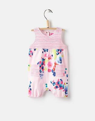 Joules 124736 Baby Girls Otilie Jersey Romper with Popper Fastening in Petal