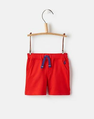 Joules 124724 Baby Boys Jersey Shorts with Elasticated Waistband in Red