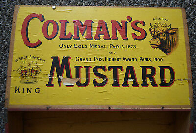 Wooden Coleman's mustard shipping or display box,nice bottle go-with