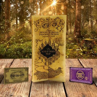 Marauders Map Harry Potter Hogwarts Christmas Gift For Witch Wizard Birthday