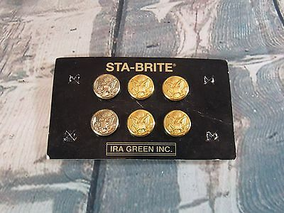 Army Dress Uniform Eagle Buttons Set Sta-Brite - Ira Green Military