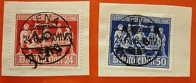 DDR 1948 Exportmessen Hannover stamps with fake cancel Jena 1948 Circle