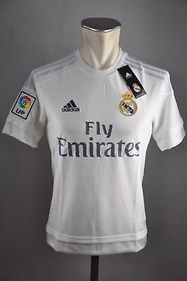 Real Madrid Kinder Trikot Gr. 128 140 152 164 176 Adidas Weiß Fly Emirates Shirt