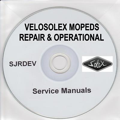 Velosolex Velo Solex Moped Repair Restoration Manual & Owners Handbook CD PDF
