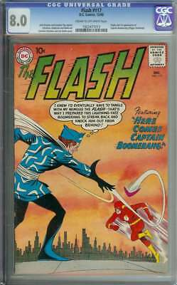 Flash #117 Cgc 8.0 Cr/ow Pages