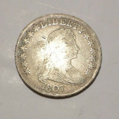 1807 Draped Bust Half Dollar, Rare Type Coin, Combined Shipping