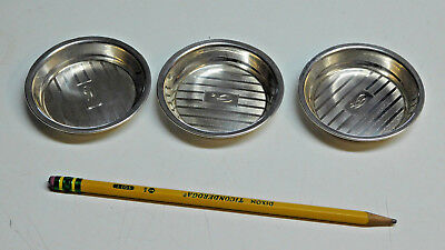 Set of 3 Vintage  Sterling Silver Ashtray