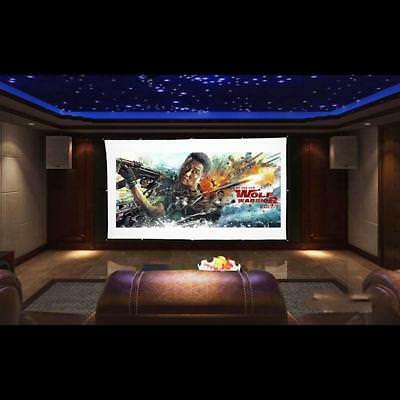 Portable 150 in HD Wall Projector Projection Screen 16:9 Home Movie Cinema Game