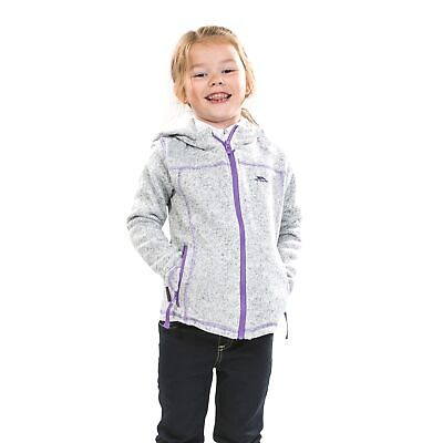 Trespass Lovell Girls Zip Fleece Heavyweight School Jumper Grey with Pockets