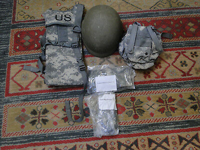 U.s. Military Issued Kevlar Combat Helmet And Other Camo Gear-Vintage Army Gear