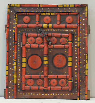 India Wooden Door Double Opening Center Colorful Wood Door