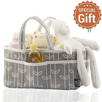 "Durable Nursery Baby Diaper Caddy Organizer Bag With Removable ""T"" Separator"