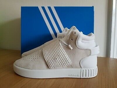 Adidas Womens Girls Tubular Invader Strap J Hi Top Shoes BA9370 Trainers UK 6
