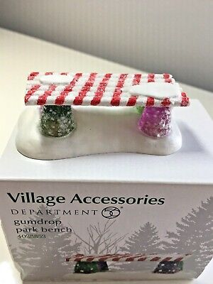 Dept 56 Village Accessories - Gumdrop Park Bench