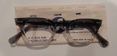 Vintage Vacationer Gray Fade 46/24 Men's Plastic Eyeglass Frame NOS w/SHRINKAGE