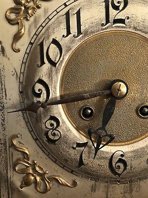 Very Nice Antique German Berger & Wuerker (B&w) Art Nouveau Wall Clock