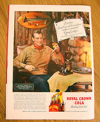 1941 RC Royal Crown Cola Ad Gary Cooper  Movie Ad Chocolate Soldier Eddy Stevens
