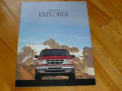 Explorer Ford 1995 Catalog Brochure French Original Dealer Sales Full Line
