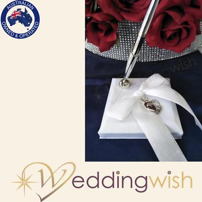 Wedding Pen Stand with Silver Heart Charm