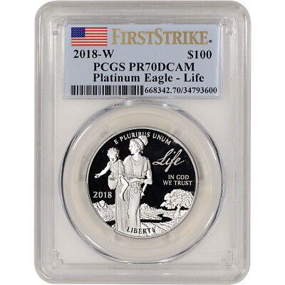 2018-W American Platinum Eagle Proof (1 oz) $100 - PCGS PR70 DCAM First Strike