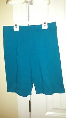 Women's VTG 80's Teal Green Aerobics Bike Shorts by The Body Co Size XL; Rare!