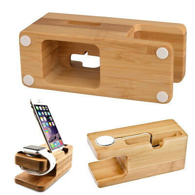 2in1 Stalion Stand Desktop Charging Dock Holder for iPhone 5/6/7/8/X Apple Watch