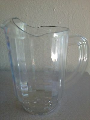 PARTY TIME- LOT of 6  Beverage Pitcher 60 oz, Clear Plastic CARLISLE N5540-PC