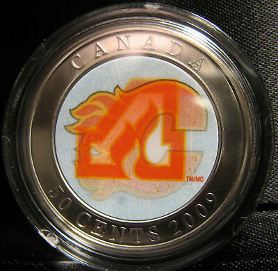 2009 - 50-cent - NHL - Calgary Flames - Lenticular - SP ( Coin Only )