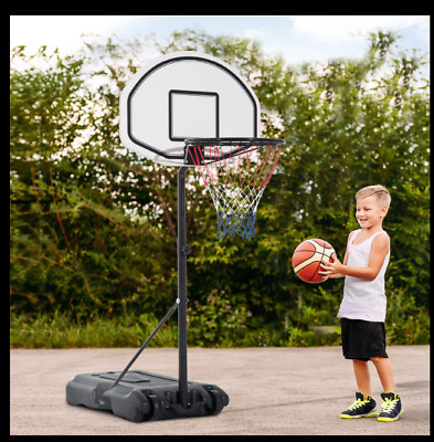 "51""-64"" Adjustable Poolside Basketball Hoop Wheeled Pool Toy Portable"